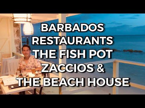 Barbados Restaurants - The Fish Pot, Zaccios & The Beach House