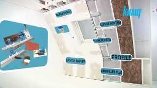 Parachever une toiture inclinée avec des plaques de plâtre