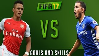 Fifa 17 - alexis sánchez vs eden hazard - who is the best ? | goals and skills