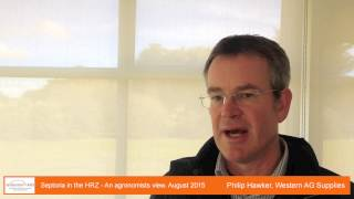 Philip Hawker - Septoria in the HRZ - An agronomist's view