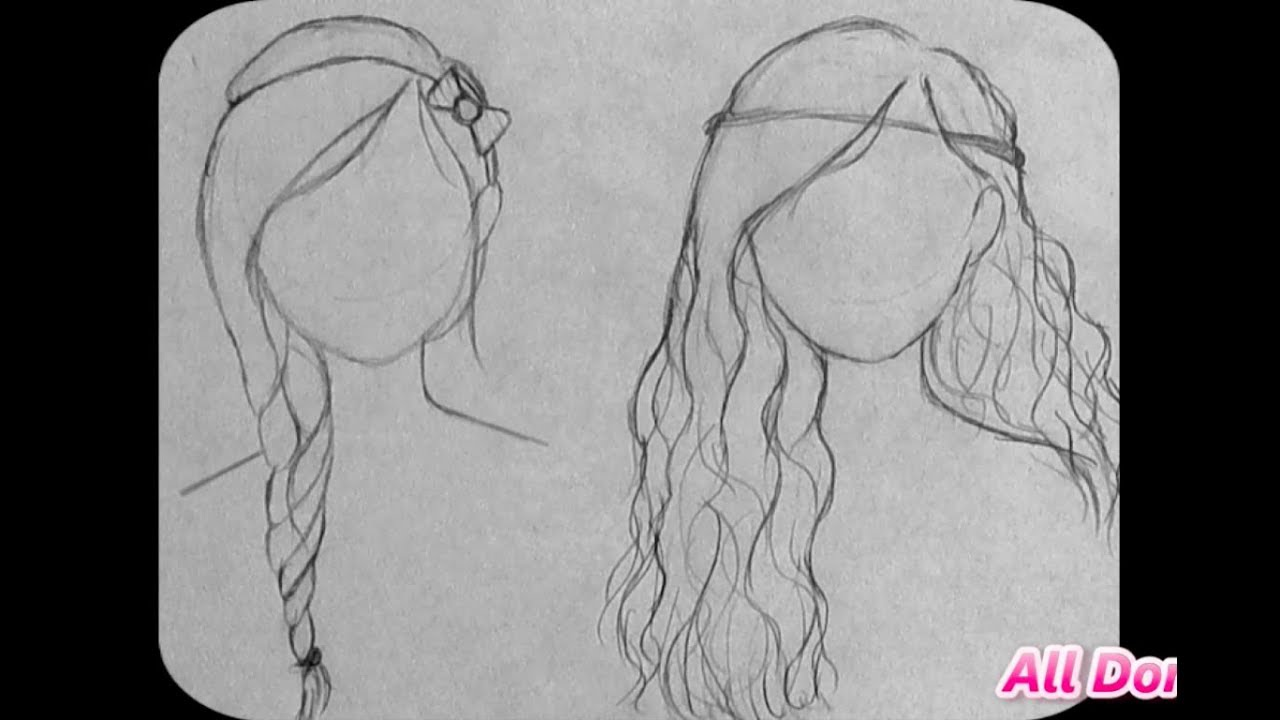 draw cute hairstyles