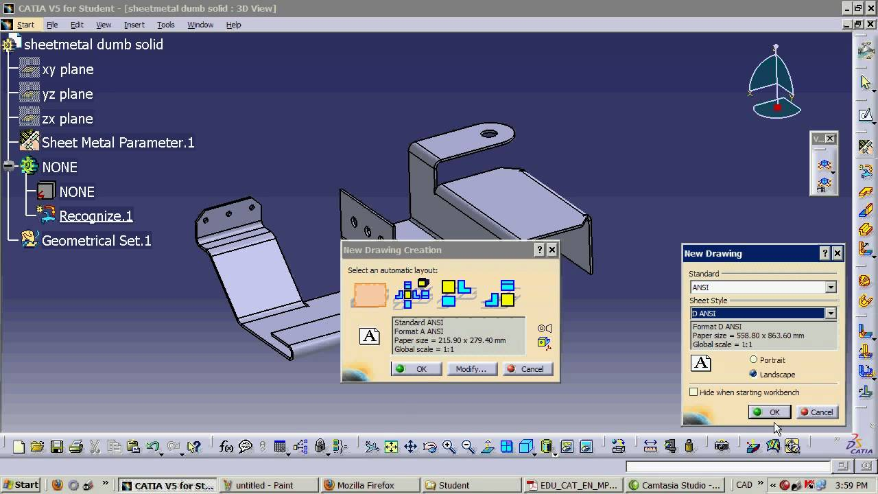 Catia V5 How To Flatten A Dumb Sheetmetal Part Youtube