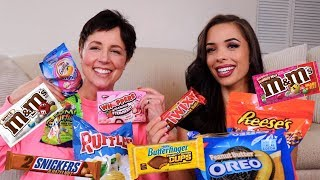AMERICANS TASTE TESTING AMERICAN CANDY AND SNACKS (part 2)
