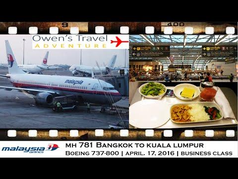 MALAYSIA AIRLINES MH 781 BANGKOK SUVARNABHUMI TO KUALA LUMPUR, BOEING 737-800 BUSINESS CLASS