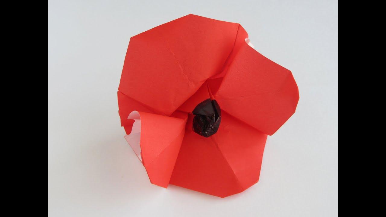 Origami poppy youtube origami poppy mightylinksfo