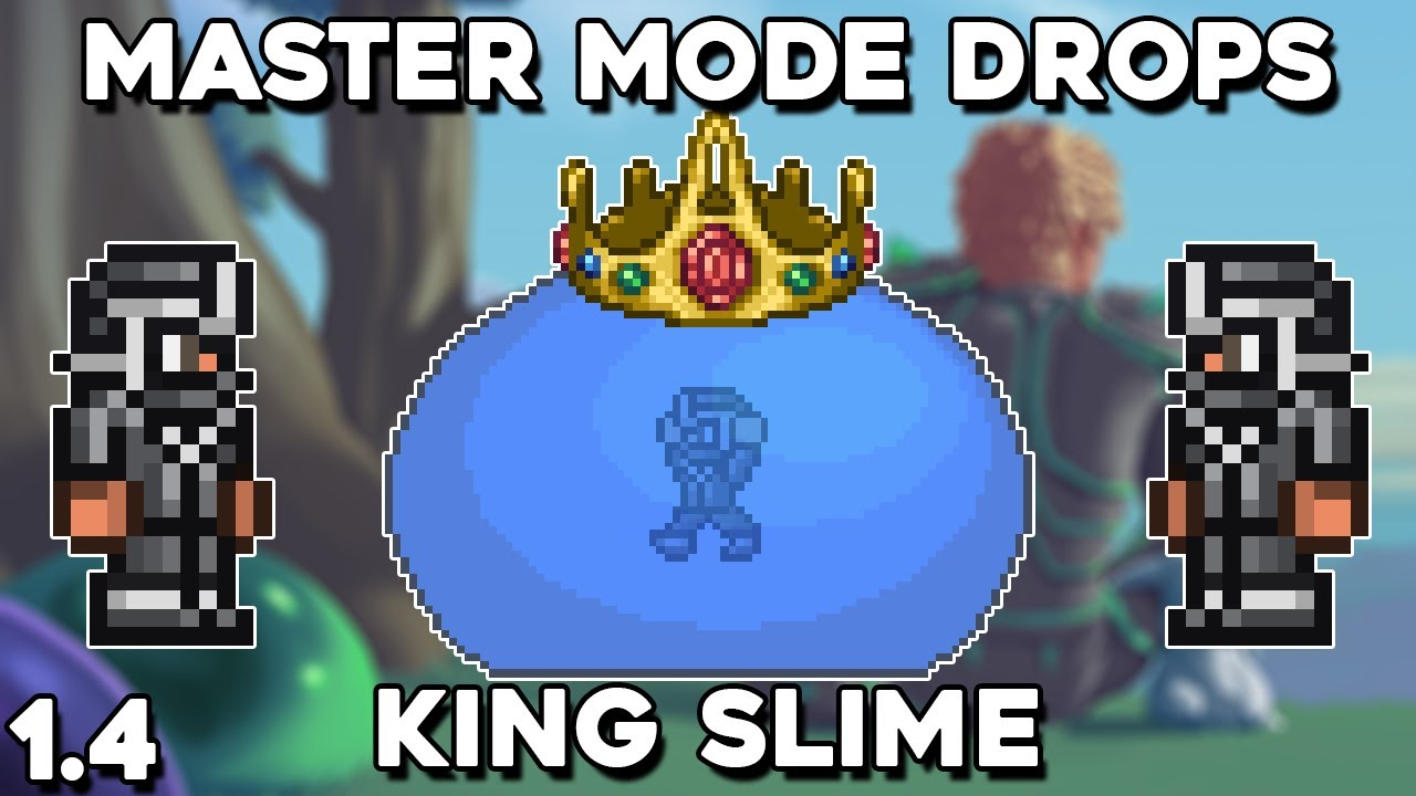 King Slime Master Mode Drops Pet Trophy Terraria 1 4 Guide Youtube