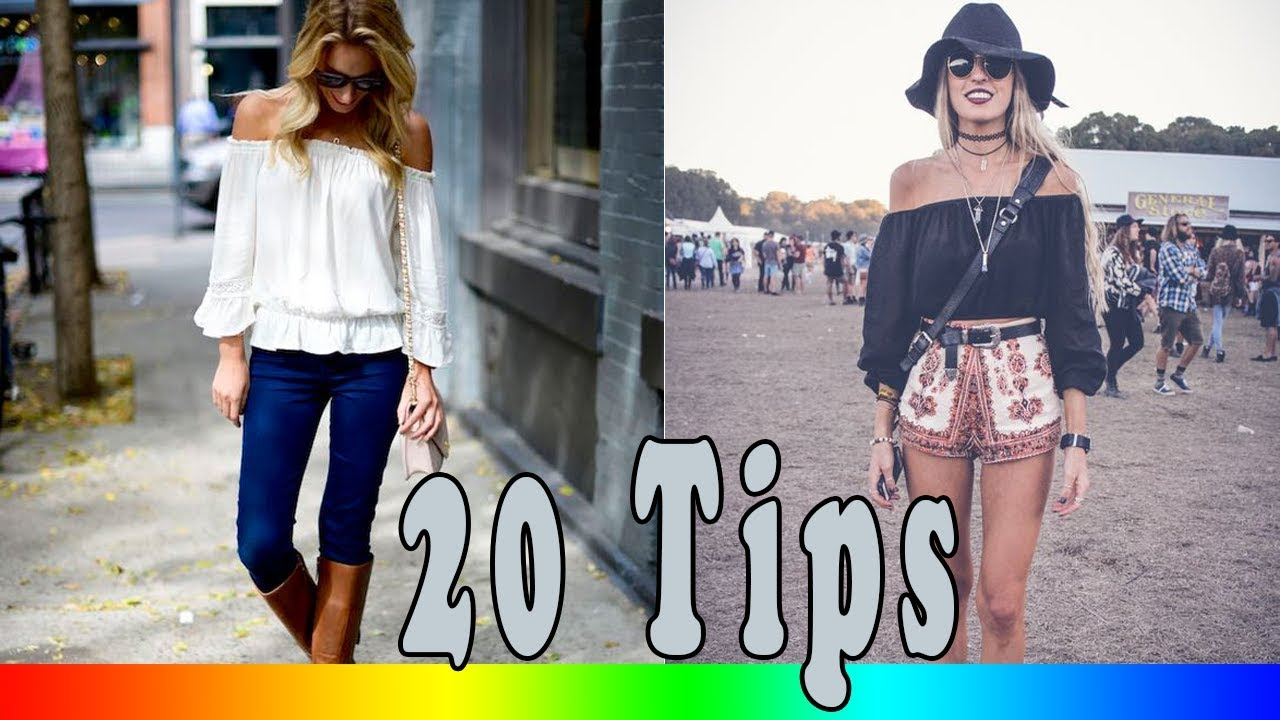 9cdedaede24df1 20 Style Tips On How To Wear Off The Shoulder Shirts This Spring ...