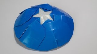 Origami Captain America's shield tutorial - DIY (Henry Phạm)