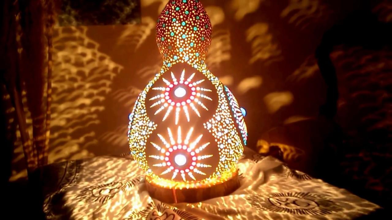 Gourd Lamp handmade gourd lamp 'the rising' - youtube