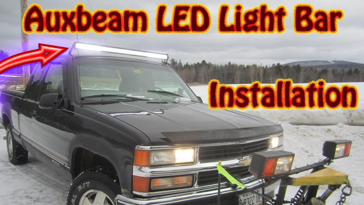 maxresdefault diy auxbeam 52 inch v series led light bar installation chevy Auxbeam Driving at edmiracle.co