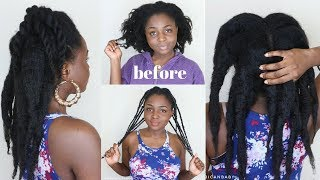 HOW TO Stretch 4c hair & Retain length with AFRICAN Threading (DETAILED)