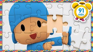 🧩 POCOYO in ENGLISH - Puzzles Day [ 91 minutes ] | Full Episodes | VIDEOS and CARTOONS for KIDS