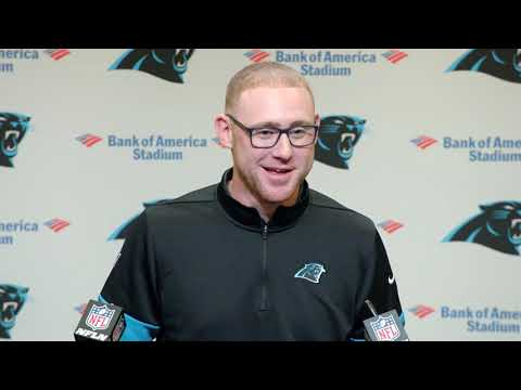 Joe Brady's First Press Conference as a Carolina Panther
