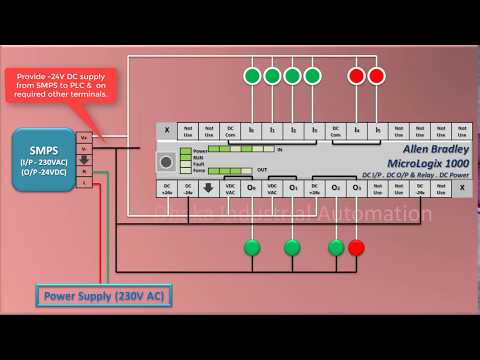 How to do connection of Allen dley PLC (MicroLogix 1000 ... Ab Wiring Diagrams on