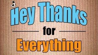 The Wonder Years - Hey Thanks Lyrics (Kinetic Typography)