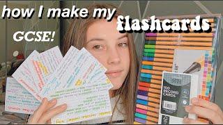 How I make my FLASHCARDS | GCSE student