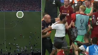 crazy-moment-liverpool-goalkeeper-adrian-injured-by-pitch-invading-fan-2019-uefa-super-cup