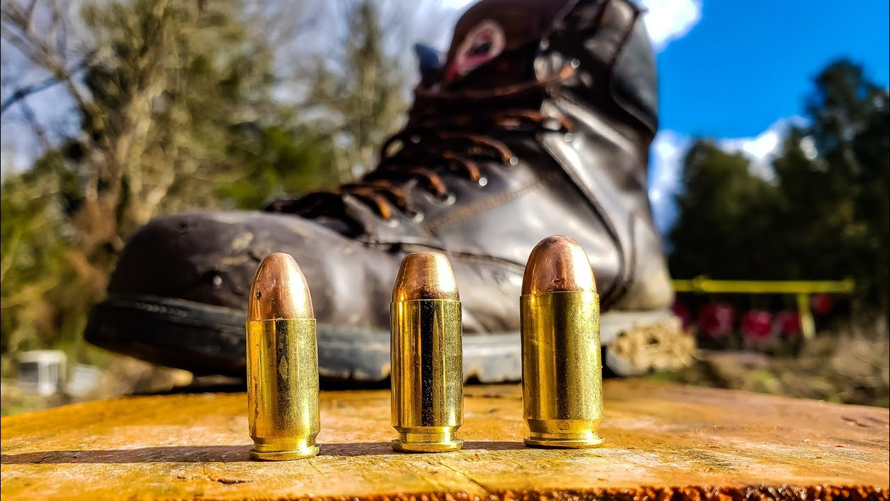 9mm vs .40 Cal vs .45 ACP - Steel Toe Boots