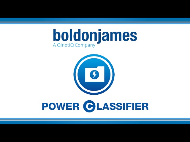 Boldon James | Power Classifier