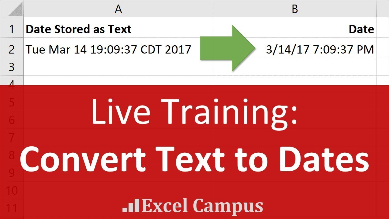 Convert Text to Dates with Flash Fill - Data Cleansing