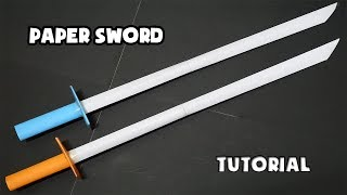 How to make a Paper Sword PART 9   Easy Origami Tutorial   DIY Ninja Sword TIME LAPSE