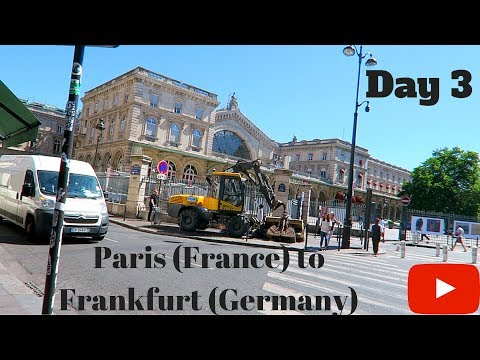 The Train From Paris To Frankfurt Germany! Day 3 In Paris France  (Going To Germany At 200 MPH!!!)