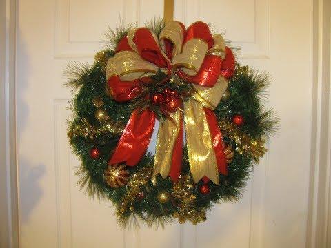 How to make Carmen's $15.00 DollarTree Garland Wreath