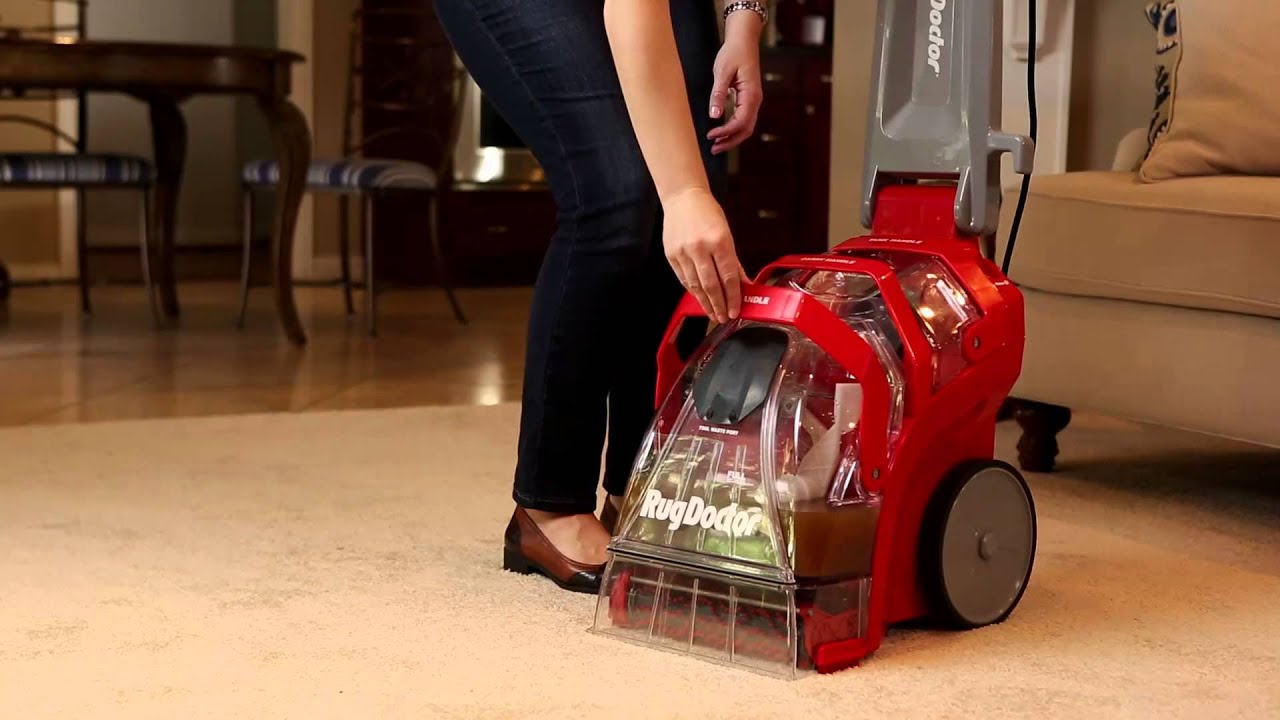 Rug Doctor Deep Carpet Cleaner Emptying Waste Water Tank