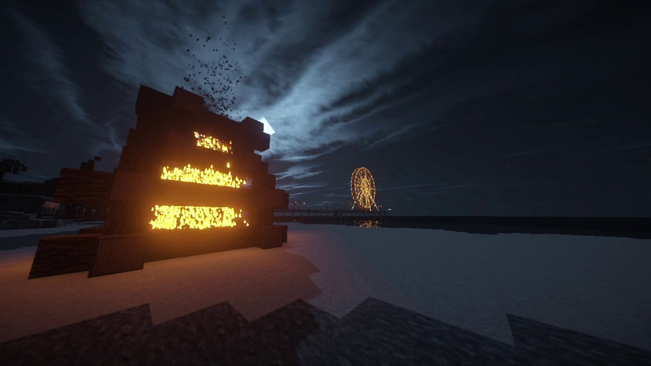 Background Loop A Night On The Beach Minecraft Youtube