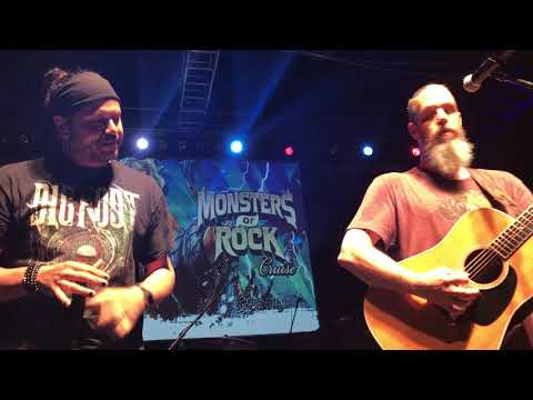 Jason Bieler with Jeff Scott Soto-love is on the way live from monsters of rock 2018 pre party