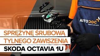 Jak wymienić Sprężyna zawieszenia SKODA OCTAVIA (1U2) - darmowe wideo online