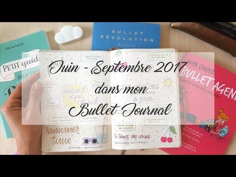 Juin - Septembre 2017 dans mon Bullet Journal