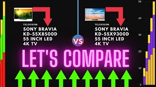 Compare Sony BRAVIA KD-55X8500D 55 inch LED 4K TV - vs - Sony BRAVIA KD-55X9300D 55 inch LED 4K TV