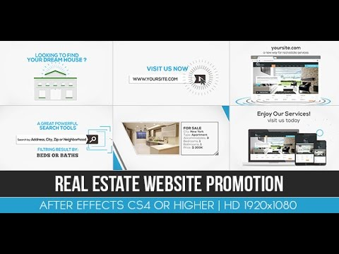 real estate website promotion after effects project youtube. Black Bedroom Furniture Sets. Home Design Ideas