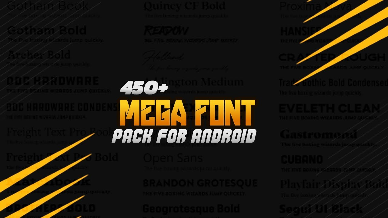 450+ Mega Font Pack for pixelLab// Free | In Android