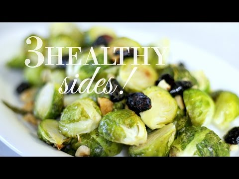 3 Healthy + Easy Holiday Sides! // What To Eat For Christmas! // Justine Marie