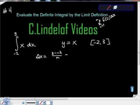 Evaluate the Definite Integral by the Limit Definition 4