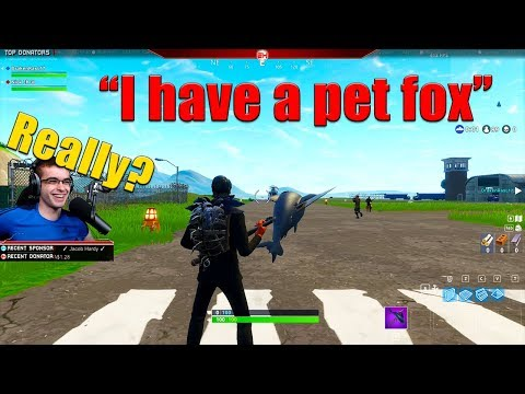 I met the happiest guy ever in Random Duos! (HE HAS A PET FOX)