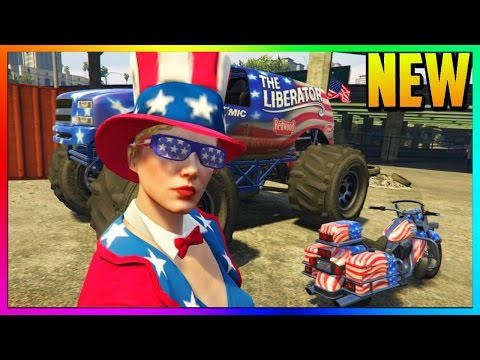 GTA 5 DLC - INDEPENDENCE DAY 2016 ALL CONTENT (Fireworks, Monster Truck, Bike & July 4th Clothes)
