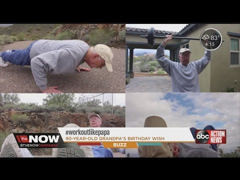 90yearold grandpa shares motivational fitness story workoutlikepapa
