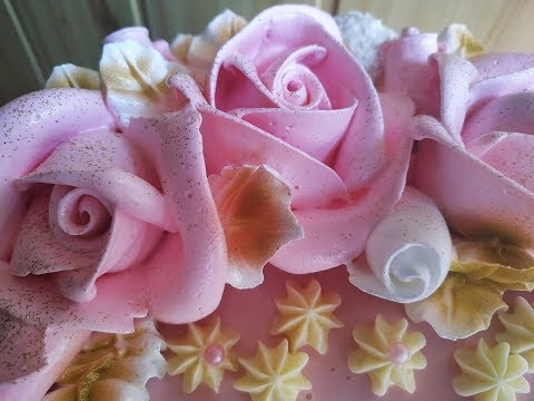 Белково заварное украшение торта.Без мастичное покрытие торта, зеркальная глазурь.Юлия Клочкова.