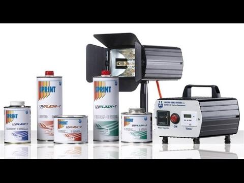 Sprex Japan - Teste de Cronometragem do Reparo com Produtos UV da SPRINT