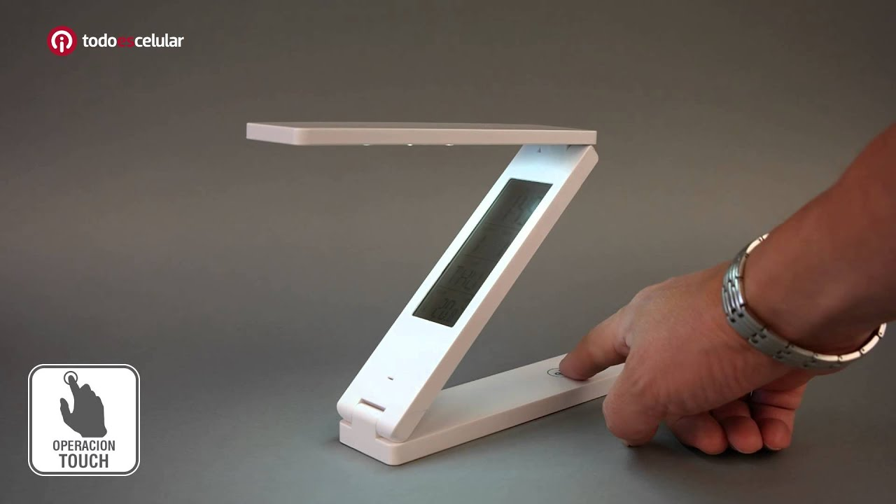 L mpara led port til minimalista reloj recargable microusb for Lampara de piso minimalista