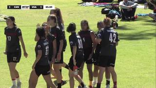 WFDF World Under 24 Ultimate Championship: Women's Final - Canada vs USA