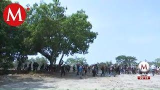 Migrantes avanzan por Chiapas, van a Huixtla