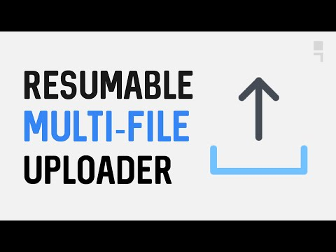 Resumable Multi-File Uploader using XMLHttpRequest, NodeJs Express and Busboy
