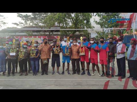 Turnamen Bola volly Distrik Mimika Baru Memperingati HUT ke 76 Kemerdekaan RI