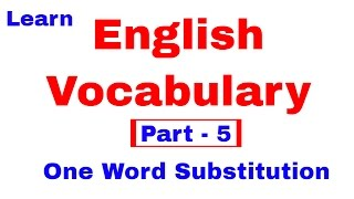 English Vocabulary for Bank po and SSC CGL  [In Hindi] Part 5