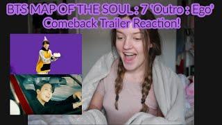 Gambar cover BTS (방탄소년단) MAP OF THE SOUL : 7 'Outro : Ego' Comeback Trailer (REACTION!!)