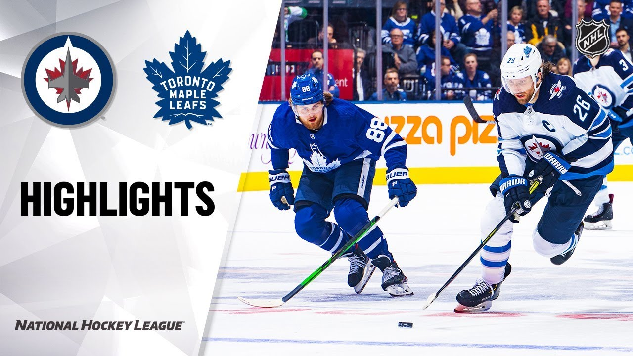 NHL Highlights | Jets @ Maple Leafs 1/8/20